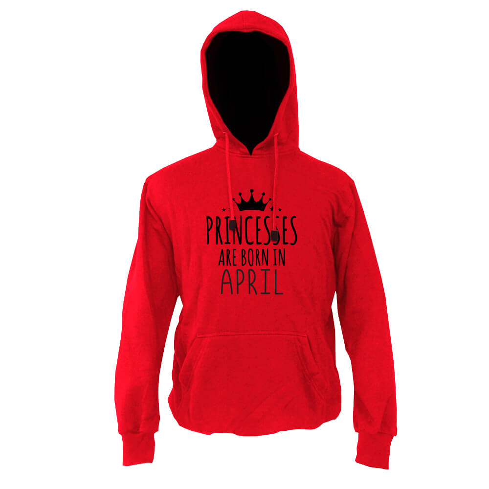 HOODIE-MERAH-PRINCESSES-ARE-BORN-IN-APRIL