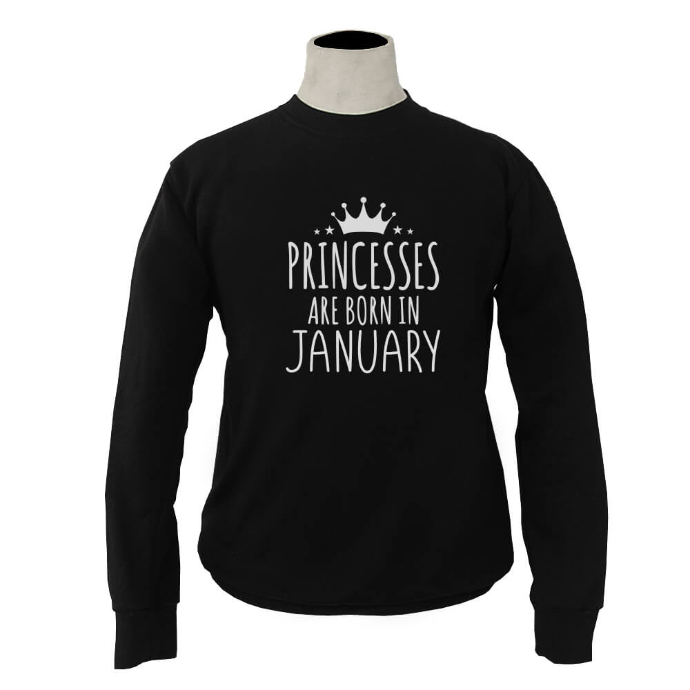 SWEATER-HITAM-PRINCESSES-ARE-BORN-IN-JANUARY