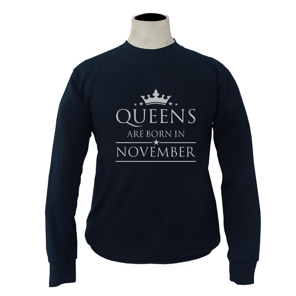 SWEATER-NAVY-QUEENS-ARE-BORN-IN-NOVEMBER