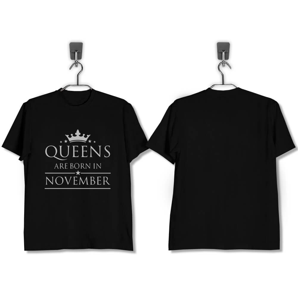 T-SHIRT-HITAM-QUEENS-ARE-BORN-IN-NOVEMBER