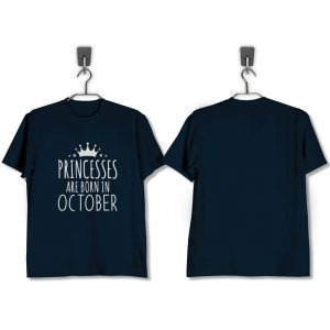 T-SHIRT-NAVY-PRINCESSES-ARE-BORN-IN-OCTOBER