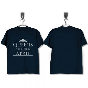 T-SHIRT-NAVY-QUEENS-ARE-BORN-IN-APRIL