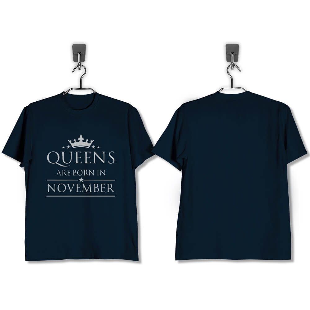 T-SHIRT-NAVY-QUEENS-ARE-BORN-IN-NOVEMBER