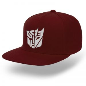 TOPI-SNAPBACK-MAROON-TRANSFORMERS-THE-DARK-KNIGHTS