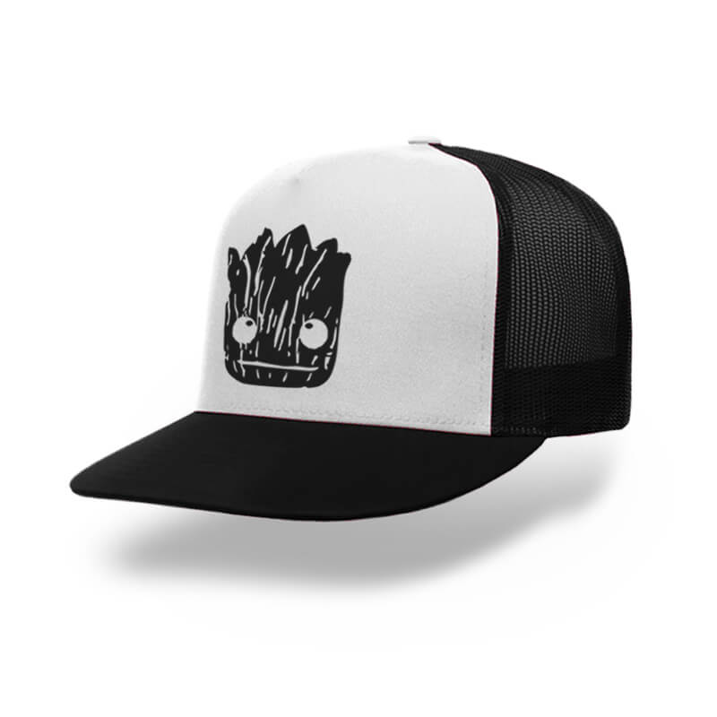 TOPI-TRUCKER-BLACK-WHITE-GUARDIANS-OF-THE-GALAXY-I-AM-GROOT-01