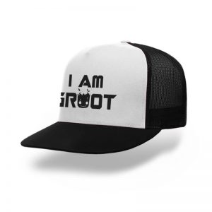 TOPI-TRUCKER-BLACK-WHITE-GUARDIANS-OF-THE-GALAXY-I-AM-GROOT