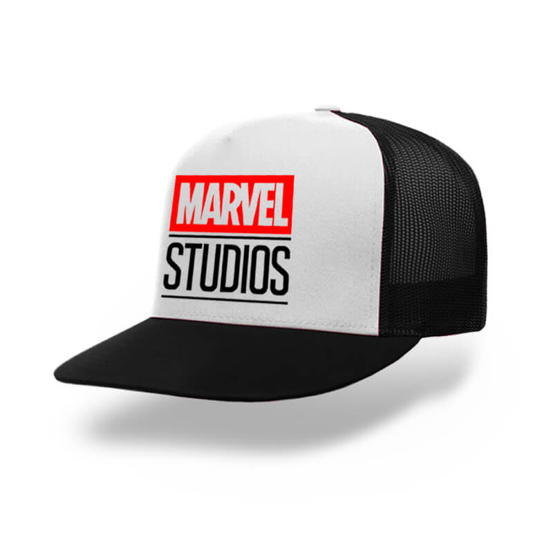 TOPI-TRUCKER-BLACK-WHITE-MARVEL-STUDIOS
