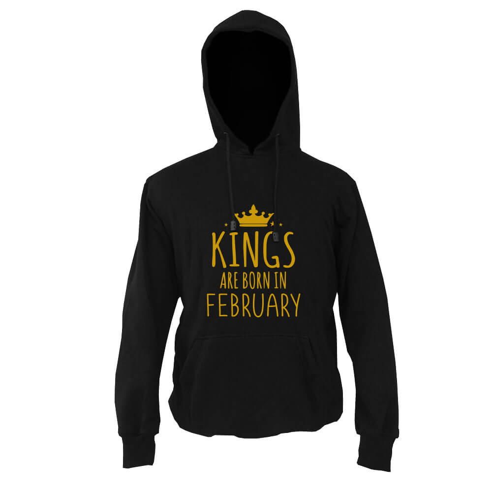 HOODIE - BLACK GOLD - KING ARE BORN - FEBRUARY