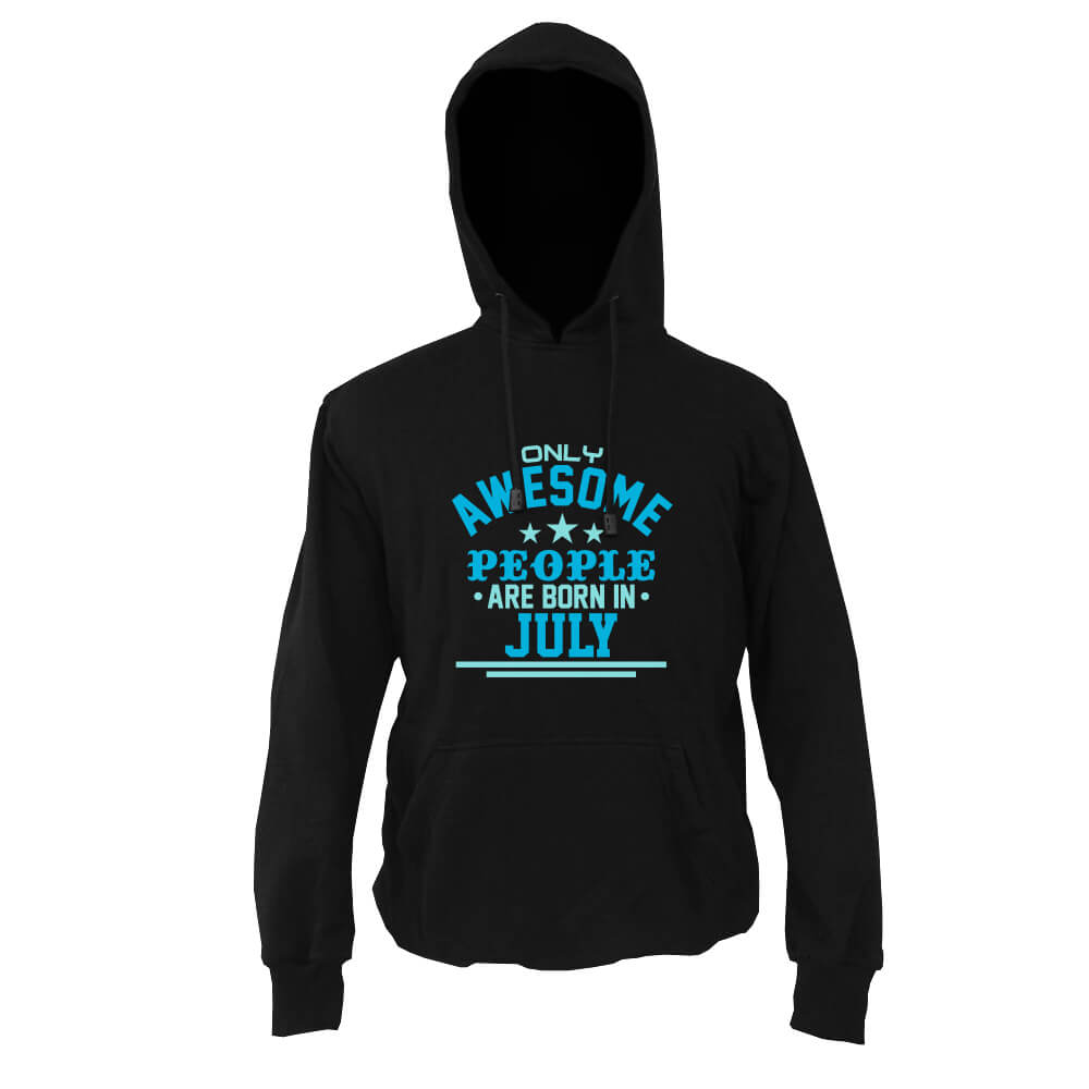 HOODIE-HITAM-AWESOME-PEOPLE-ARE-BORN-IN-JULY