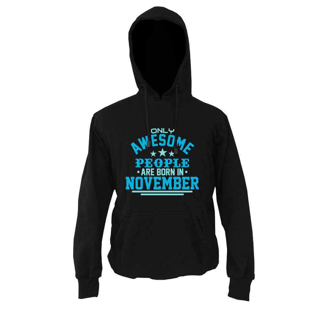 HOODIE-HITAM-AWESOME-PEOPLE-ARE-BORN-IN-NOVEMBER