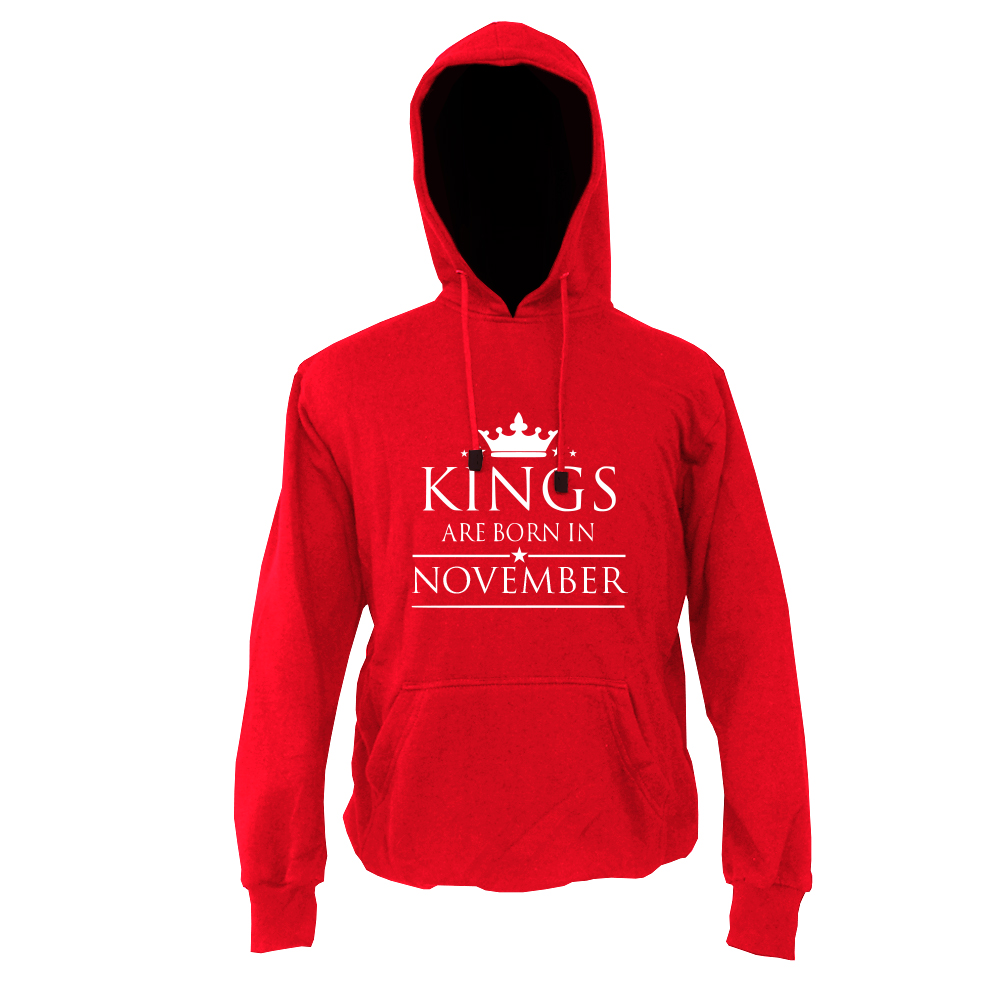 HOODIE-MERAH-KING-ARE-BORN-NOVEMBER