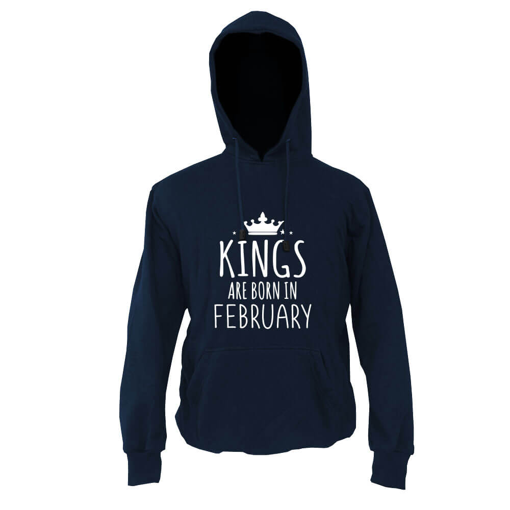 HOODIE - NAVY - KING ARE BORN - FEBRUARY