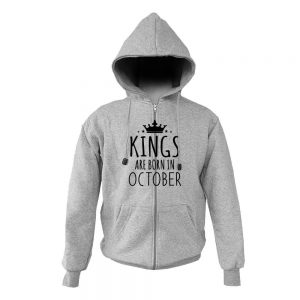 HOODIE ZIPER - ABU MISTY - KING ARE BORN - OCTOBER