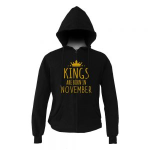 HOODIE ZIPER - BLACK GOLD - KING ARE BORN - NOVEMBER