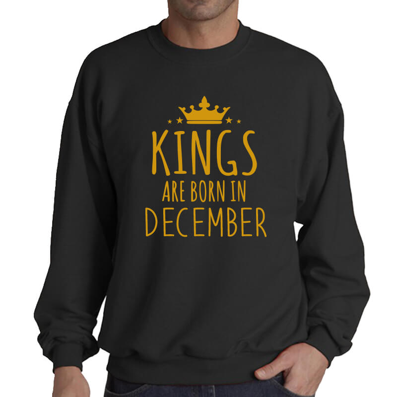 SWEATER - BLACK GOLD - KING ARE BORN - DECEMBER