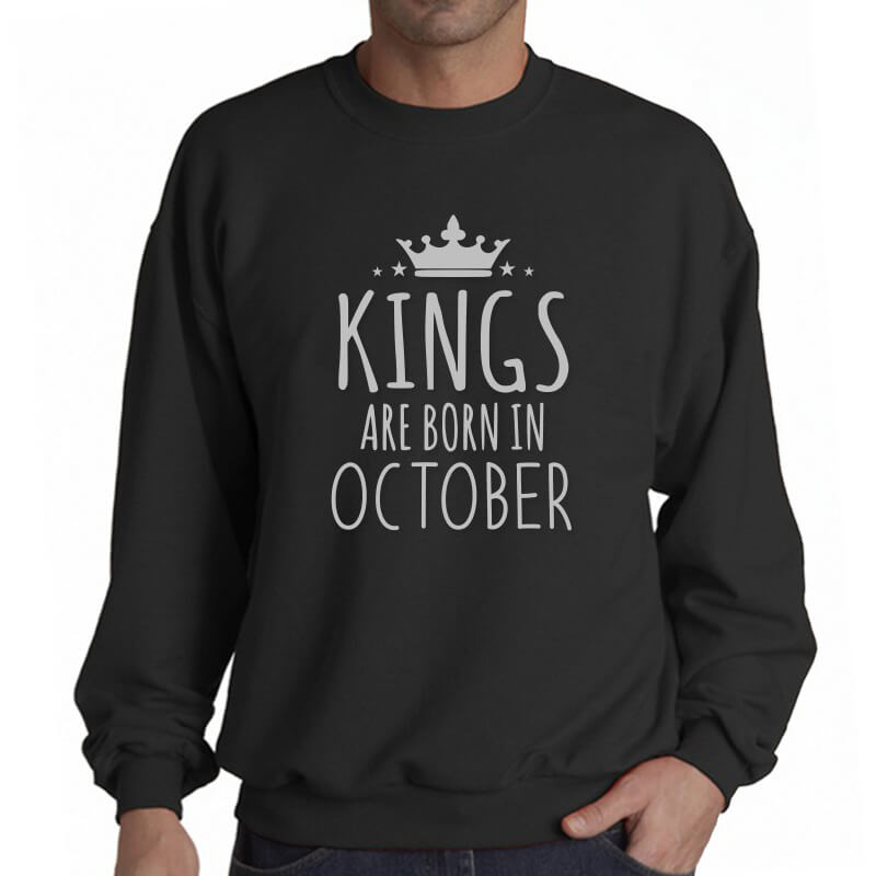 SWEATER-HITAM-KINGS-ARE-BORN-IN-OCTOBER