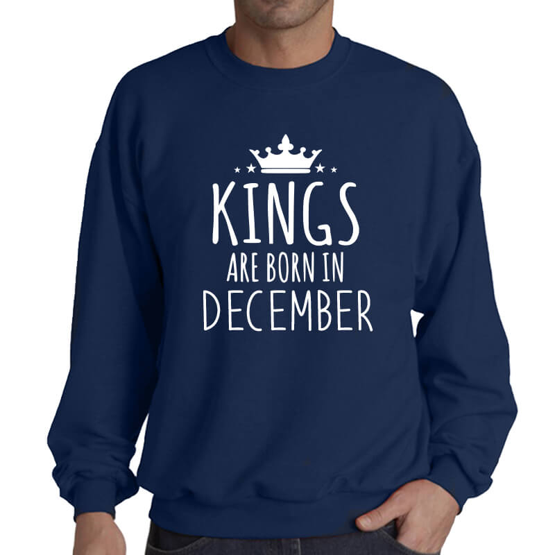 SWEATER - NAVY - KINGS ARE BORN - DECEMBER