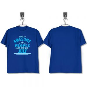 T-SHIRT-BIRU-AWESOME-PEOPLE-ARE-BORN-IN-JULY