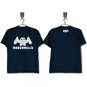 T-SHIRT-NAVY-MARSHMELLO
