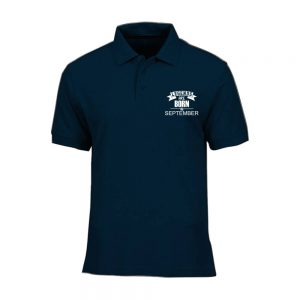 T-SHIRT POLO - NAVY - LEGEND ARE BORN - SEPTERMBER