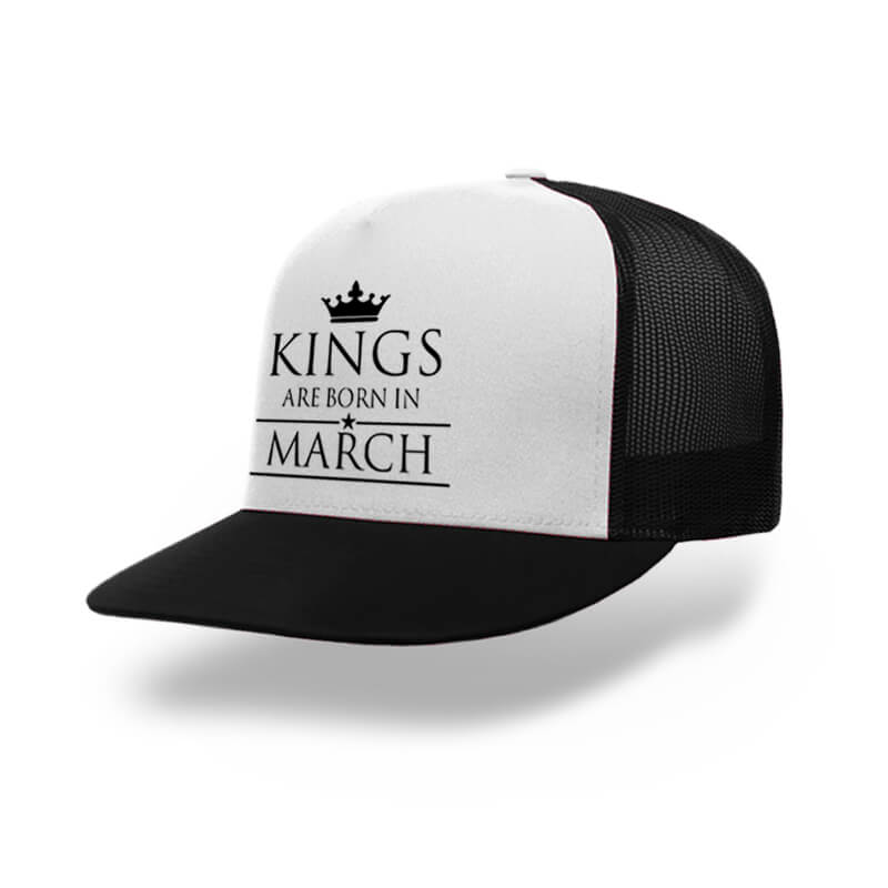 TRUCKER-BLACK-WHITE-KINGS-ARE-BORN-IN-MARCH