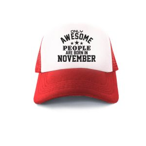 TRUCKER-MERAH-PUTIH-ONLY-AWESOME-PEOPLE-ARE-BORN-IN-NOVEMBER