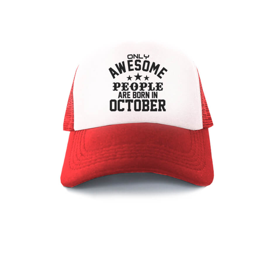 TRUCKER-MERAH-PUTIH-ONLY-AWESOME-PEOPLE-ARE-BORN-IN-OCTOBER