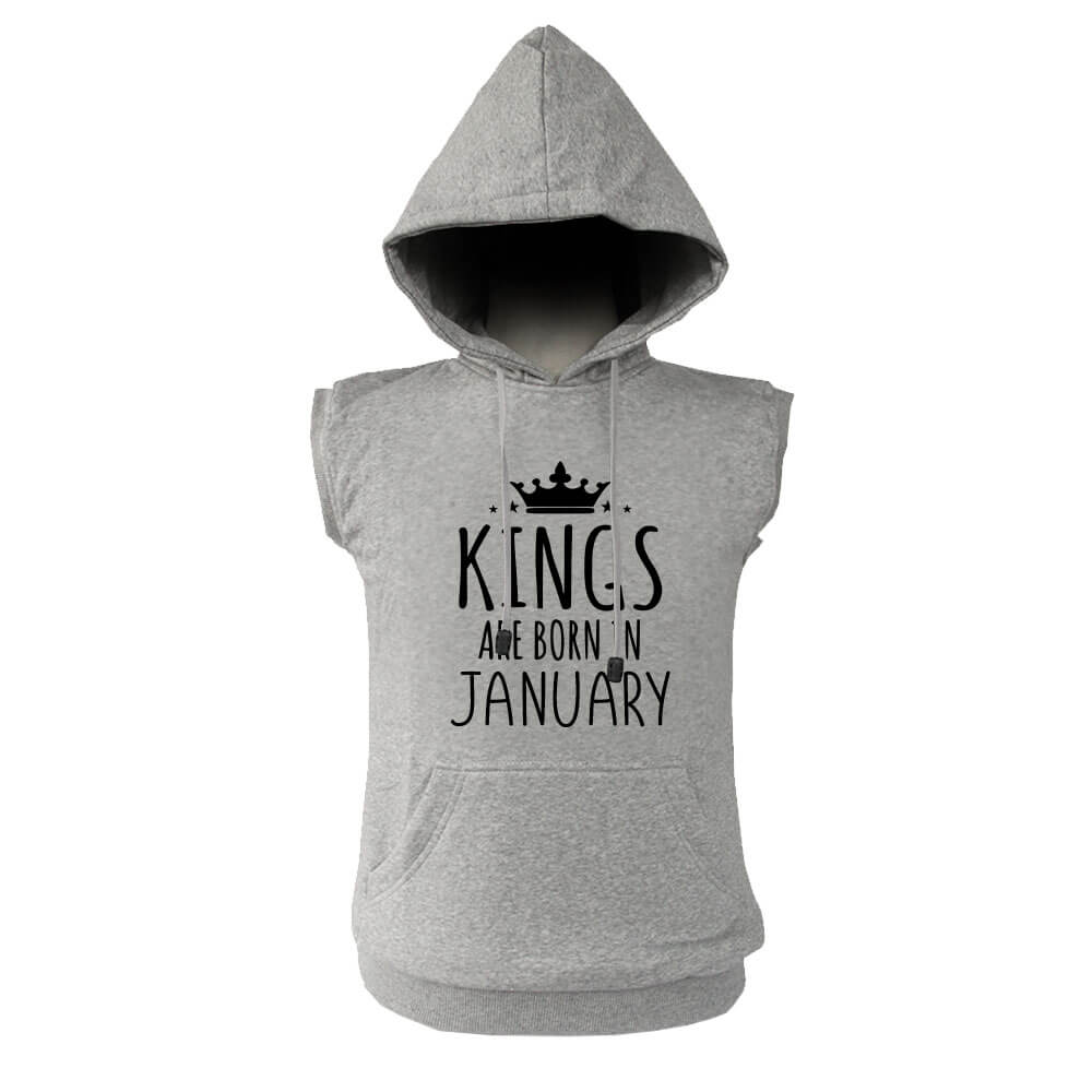 VEST HOODIE - KING ARE BORN - ABU MISTY - JANUARY