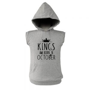 VEST HOODIE - KING ARE BORN - ABU MISTY - OCTOBER