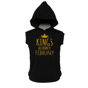 VEST HOODIE - KING ARE BORN - BLACK GOLD - FEBRUARY