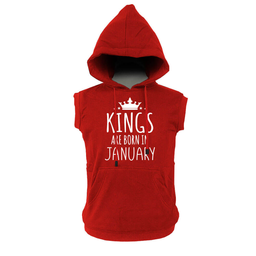 VEST HOODIE - KING ARE BORN - MERAH - JANUARY
