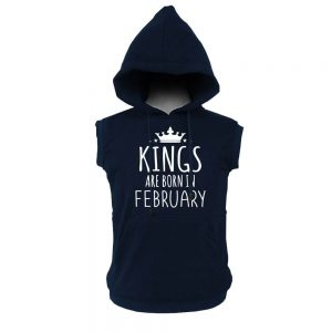 VEST HOODIE - KING ARE BORN - NAVY - FEBRUARY