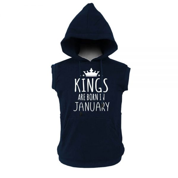VEST HOODIE - KING ARE BORN - NAVY - JANUARY