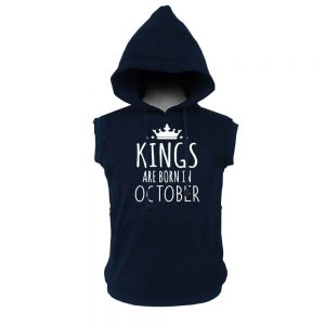 VEST HOODIE - KING ARE BORN - NAVY - OCTOBER