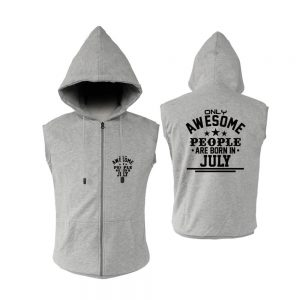 VEST ZIPPER - ABU MISTY - AWESOME PEOPLE ARE BORN IN - JULY