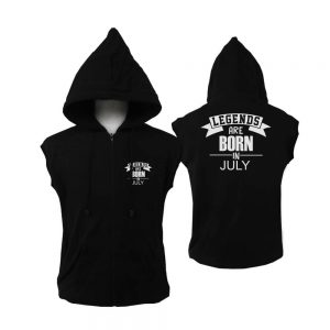 VEST-ZIPPER-HITAM-LEGENDS-ARE-BORN-IN-JULY