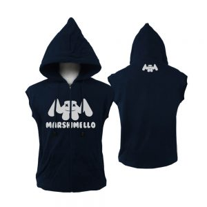 VEST-ZIPPER-NAVY-MARSHMELLO