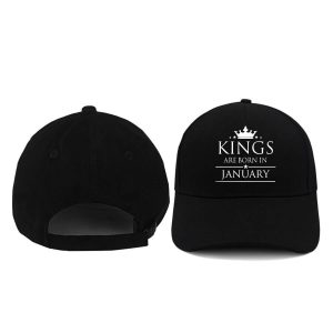 CAPS - HITAM - KING ARE BORN - JANUARY