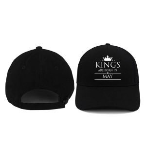 CAPS - HITAM - KING ARE BORN - MAY