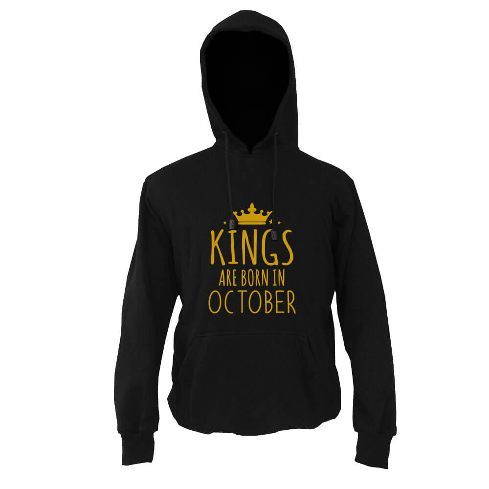 HOODIE - BLACK GOLD - KING ARE BORN - OCTOBER