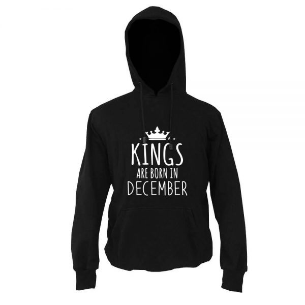 HOODIE - BLACK WHITE - KING ARE BORN - DECEMBER