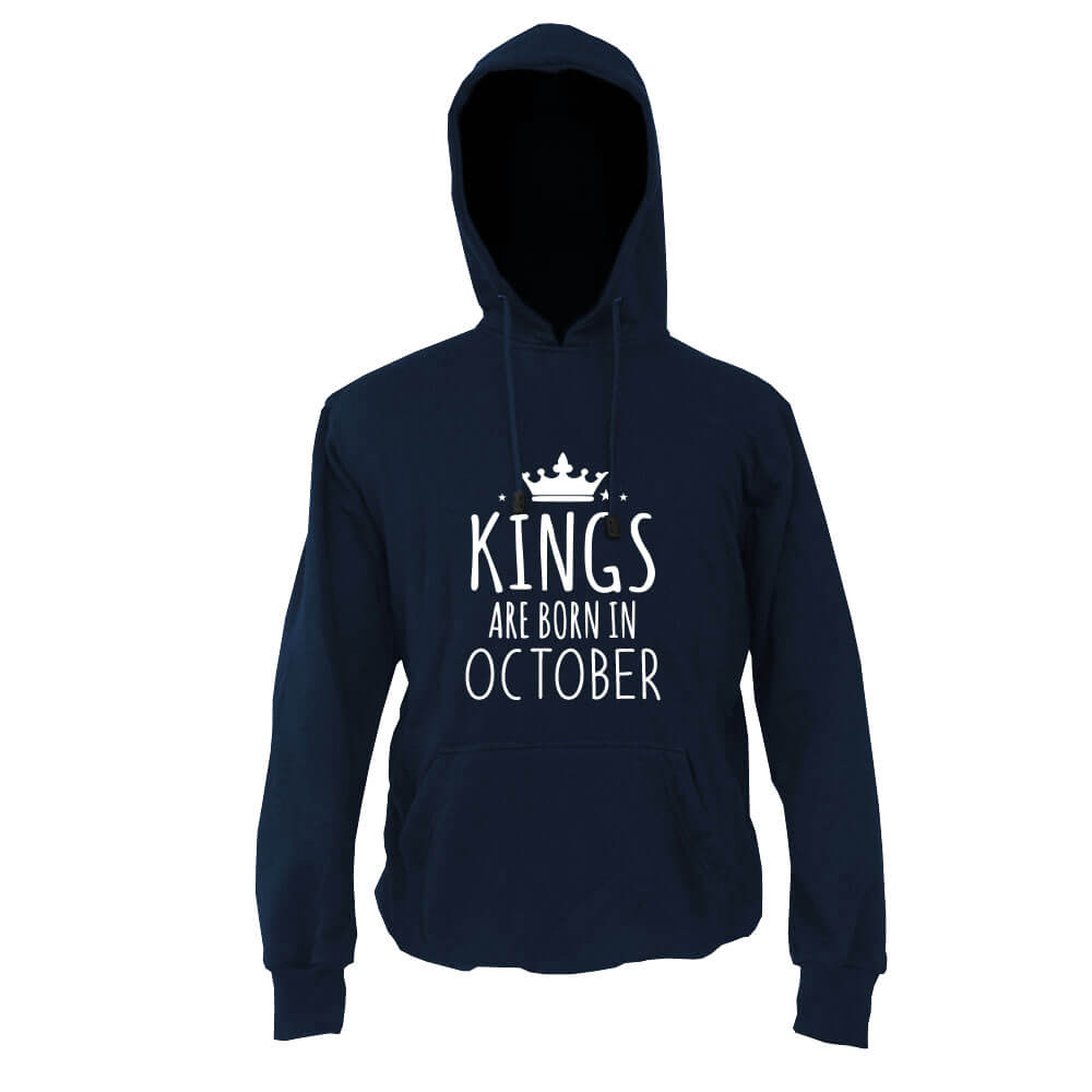 HOODIE - NAVY - KING ARE BORN - OCTOBER