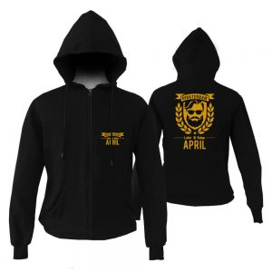 HOODIE ZIPPER - BLACK GOLD - AYAH TERBAIK LAHIR DIBULAN - APRIL