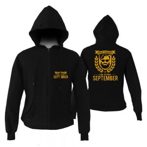 HOODIE ZIPPER - BLACK GOLD - AYAH TERBAIK LAHIR DIBULAN - SEPTEMBER