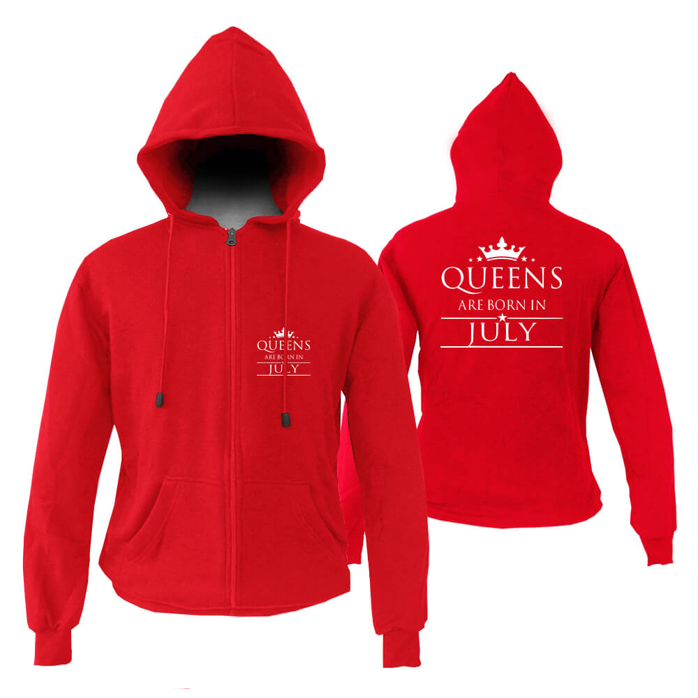 HOODIE-ZIPPER-MERAH-QUUEN-ARE-BORN-IN-JULY