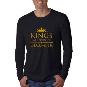 LONGSLEEVE - BLACK GOLD - KING ARE BORN - DECEMBER
