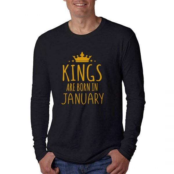 LONGSLEEVE - BLACK GOLD - KING ARE BORN - JANUARY