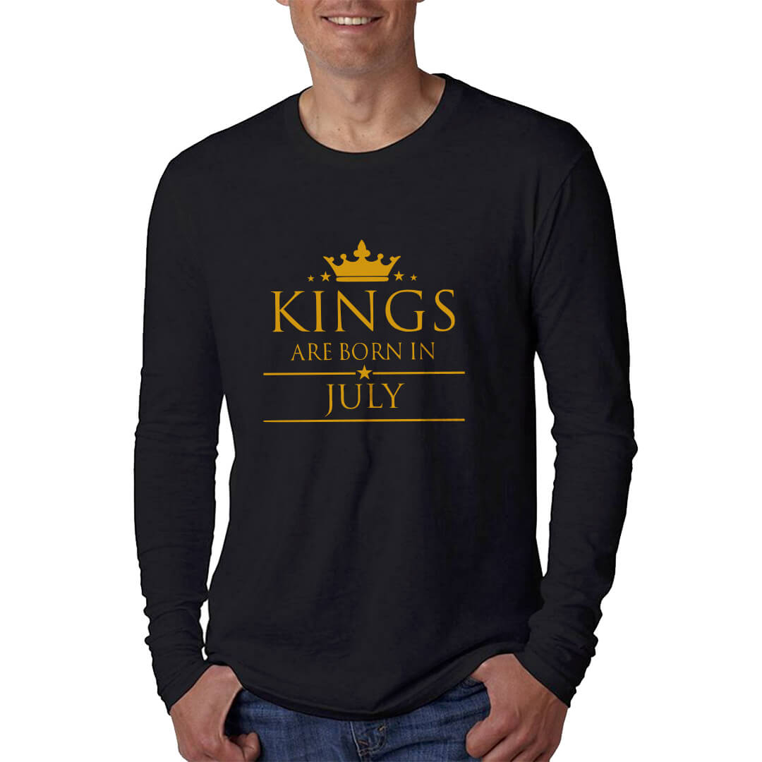 LONGSLEEVE - BLACK GOLD - KING ARE BORN - JULY