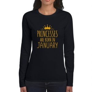 LONGSLEEVE-BLACK-GOLD-PRINCES-ARE-BORN-JANUARY