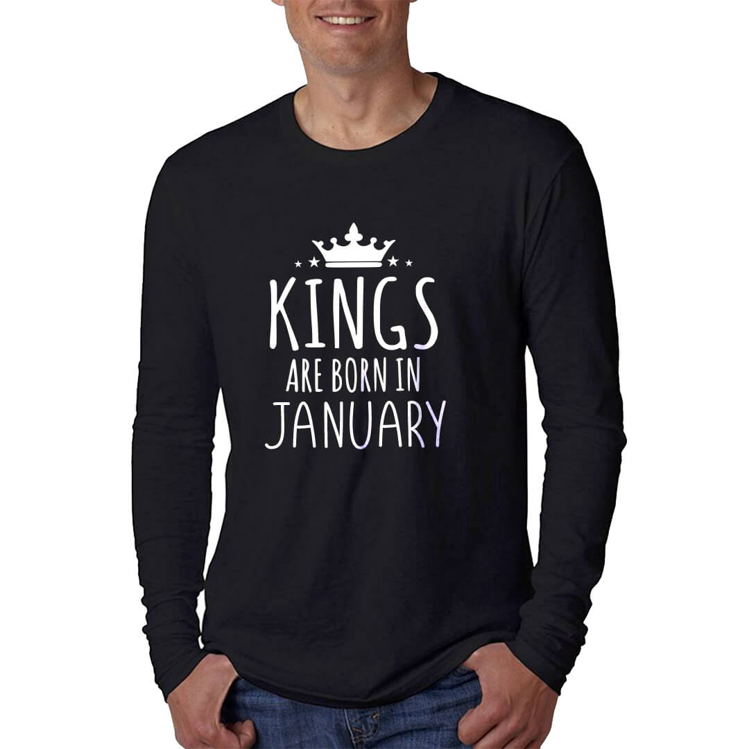 LONGSLEEVE - BLACK - KING ARE BORN - JANUARY
